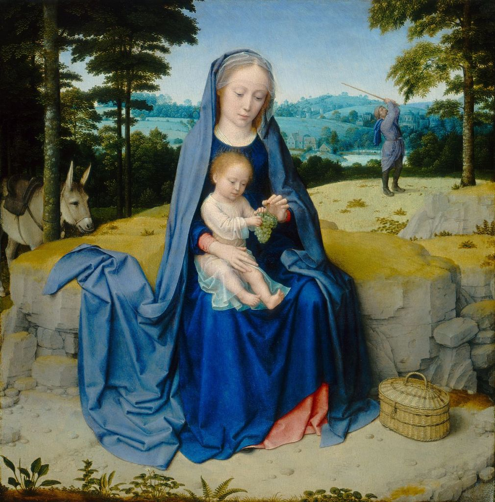 This image has an empty alt attribute; its file name is gerard_david_-_the_rest_on_the_flight_into_egypt_national_gallery_of_art.jpg